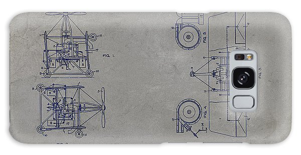 Galaxy Case - Nikola Tesla's Aerial Transport Patent 1928 Grunge Gray by Paulette B Wright