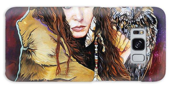 Nine Stars Woman / Owl Medicine Galaxy Case by J W Baker