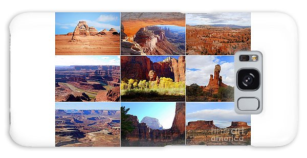 Nine Utah Landmarks Galaxy Case
