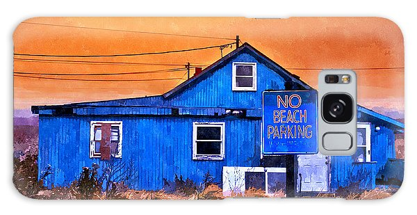 No Beach Parking Galaxy Case by Rick Mosher