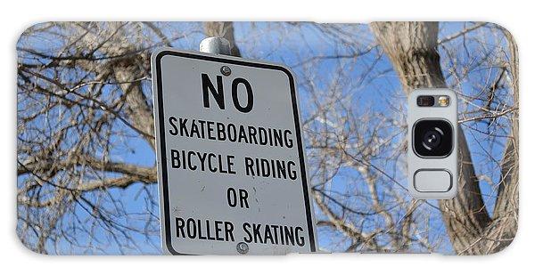 No Skating Galaxy Case