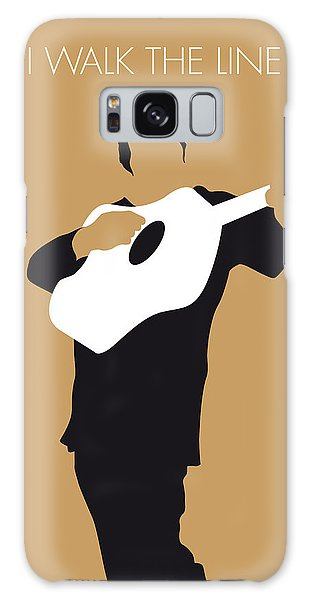 No010 My Johnny Cash Minimal Music Poster Galaxy Case