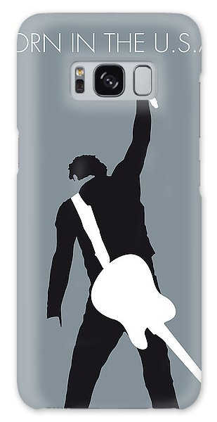 No017 My Bruce Springsteen Minimal Music Poster Galaxy Case