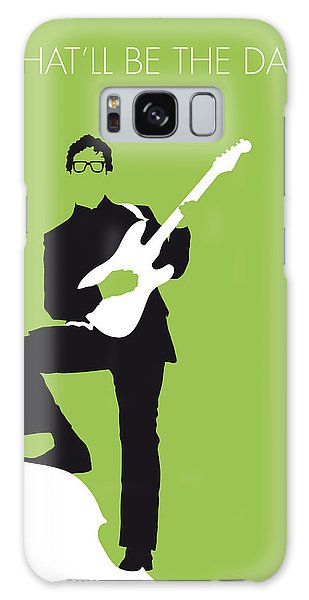 No056 My Buddy Holly Minimal Music Poster Galaxy Case by Chungkong Art