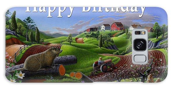 Groundhog Galaxy Case - no14 Happy Birthday 5x7 greeting card  by Walt Curlee