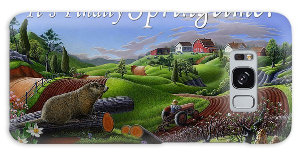 Groundhog Galaxy Case - no14 Its Finally Springtime 5x7 greeting card  by Walt Curlee