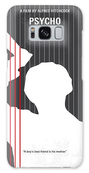 No185 My Psycho Minimal Movie Poster Galaxy Case