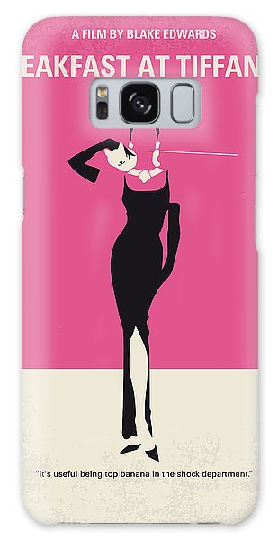 No204 My Breakfast At Tiffanys Minimal Movie Poster Galaxy Case