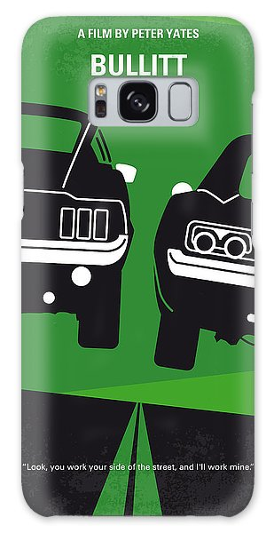 No214 My Bullitt Minimal Movie Poster Galaxy Case