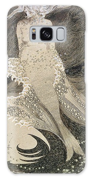 Pen And Ink Drawing Galaxy Case - The Mermaid by Sidney Herbert Sime