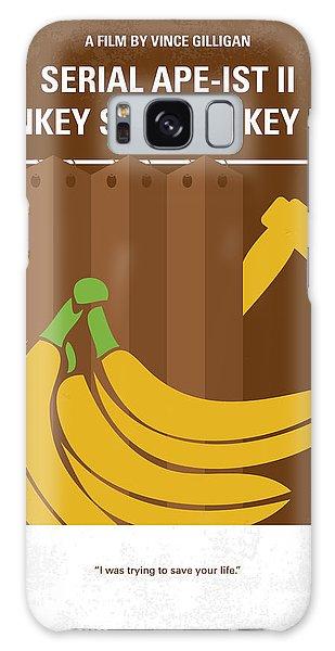 Gorilla Galaxy S8 Case - No356 My Serial Ape-ist Minimal Movie Poster by Chungkong Art