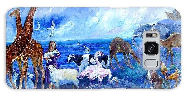 Noahs Ark - After The Flood  Galaxy Case by Trudi Doyle