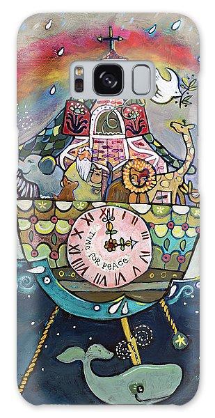 Clock Galaxy Case - Noah's Ark Cuckoo Clock Wall Art by Jen Norton