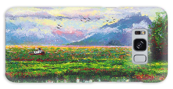 Nomad - Alaska Landscape With Joe Redington's Boat In Knik Alaska Galaxy Case