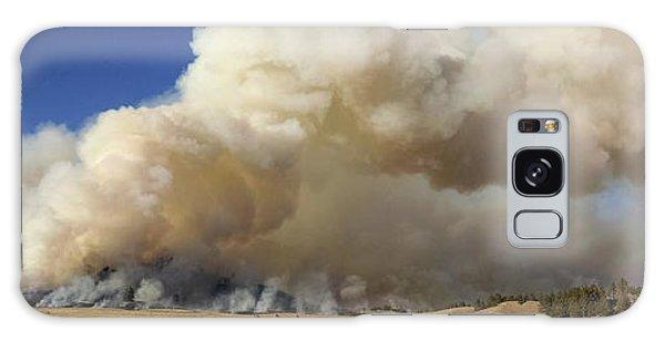 Norbeck Prescribed Fire Smoke Column Galaxy Case by Bill Gabbert