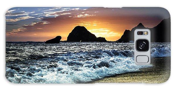 Norcal Sunset On Jenner Beach Galaxy Case