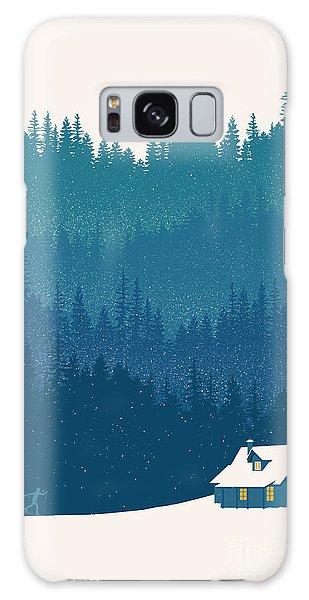 Forest Galaxy Case - Nordic Ski Scene by Sassan Filsoof