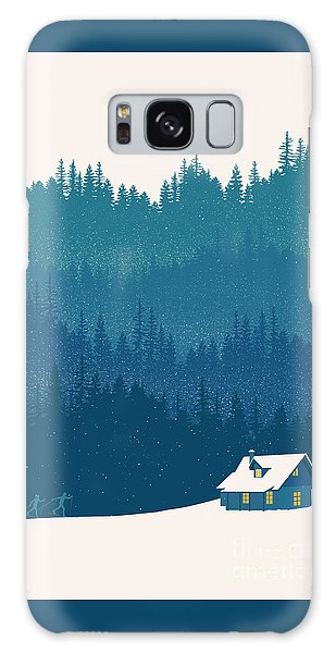 Woods Galaxy Case - Nordic Ski Scene by Sassan Filsoof