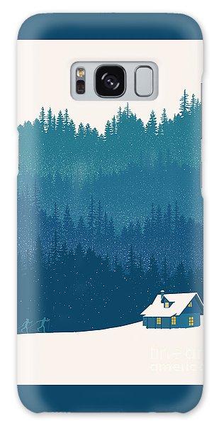 Winter Galaxy Case - Nordic Ski Scene by Sassan Filsoof