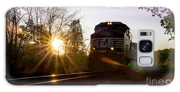 Norfolk And Southern At Sunset Galaxy Case