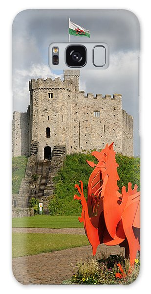 Norman Keep Cardiff Castle Galaxy Case by Jeremy Voisey