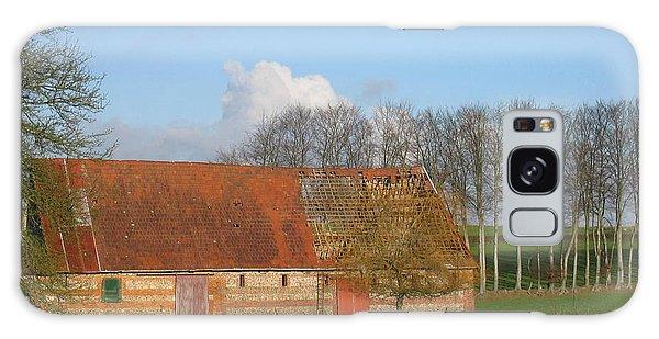 Normandy Storm Damaged Barn Galaxy Case