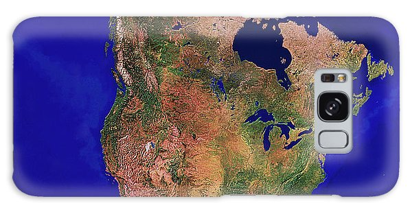 Usa Map Galaxy Case - North America by Copyright 1995, Worldsat International And J. Knighton/science Photo Library