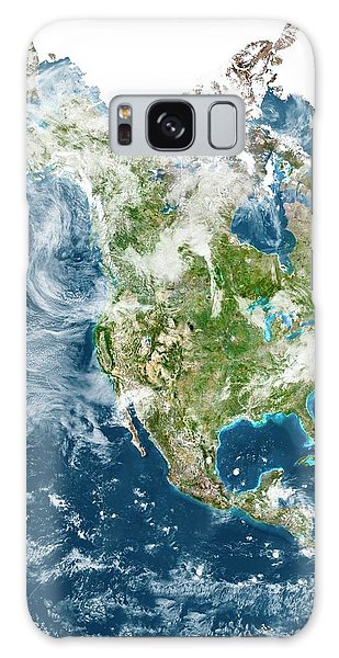 Usa Map Galaxy Case - North America With Cloud by Planetobserver/science Photo Library