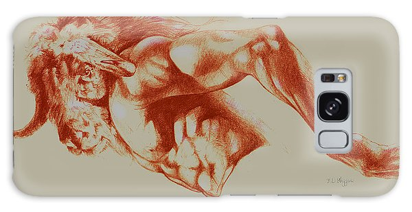 Minotaur Galaxy Case - North American Minotaur Red Sketch by Derrick Higgins
