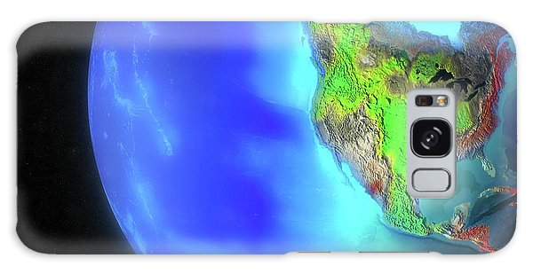 Usa Map Galaxy Case - North And Central America Climate Model by Oak Ridge National Laboratory/science Photo Library