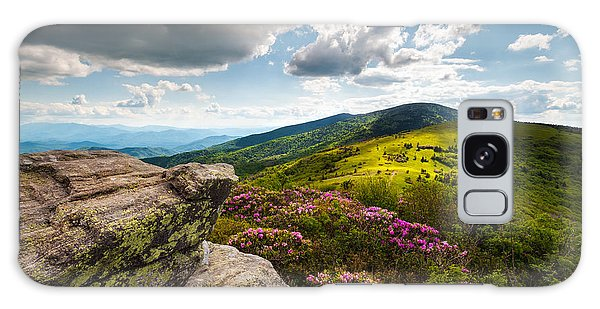 Highland Galaxy Case - North Carolina Blue Ridge Mountains Roan Rhododendron Flowers Nc by Dave Allen