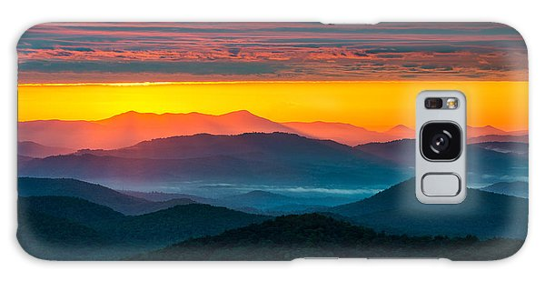 North Carolina Blue Ridge Parkway Morning Majesty Galaxy Case