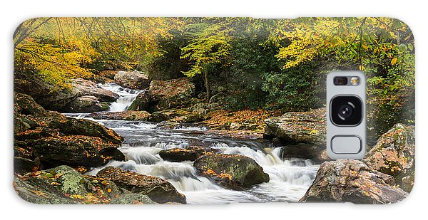 North Carolina Highlands Nc Autumn River Gorge Galaxy Case