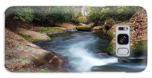 North Carolina Mountain River In Autumn Fall Foliage Galaxy Case