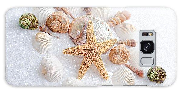 North Carolina Sea Shells Galaxy Case