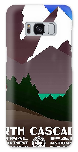 North Cascades National Park Vintage Poster Galaxy Case