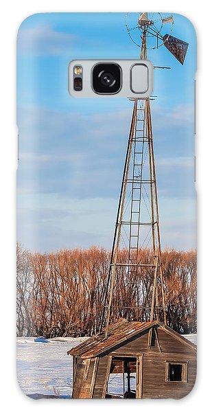 North Dakota Farmstead Galaxy Case