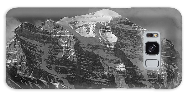 203553-north Face Mt. Temple Bw Galaxy Case