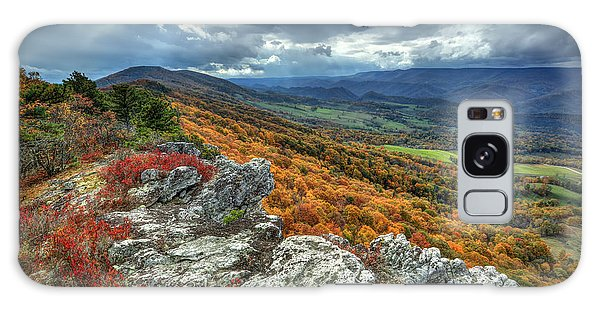 North Fork Mountain Overlook Galaxy Case