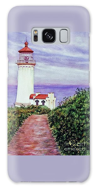 North Head Light House On The Washington Coast Galaxy Case