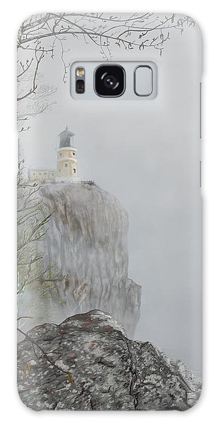 North Shore Lighthouse In The Fog Galaxy Case