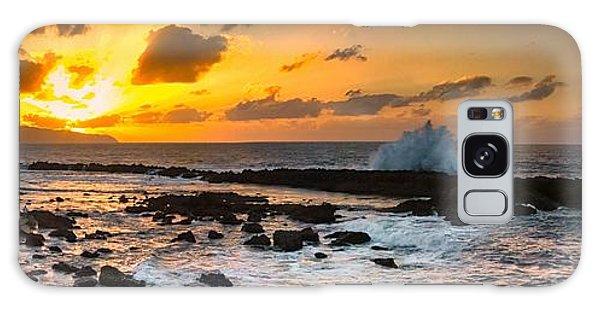North Shore Sunset Crashing Wave Galaxy Case