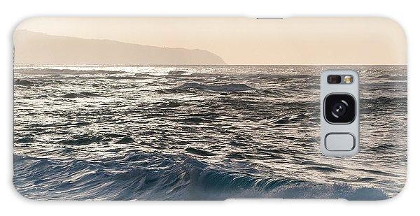North Shore Waves Galaxy Case