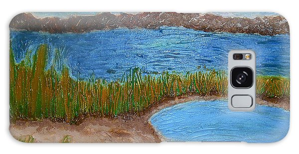 Galaxy Case featuring the painting North Wildwood   New Jersey by Joan Reese