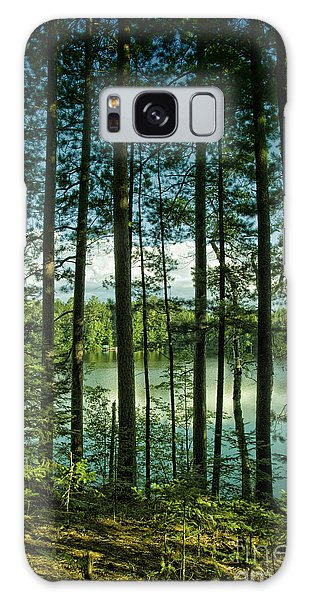 North Woods Lake Galaxy Case