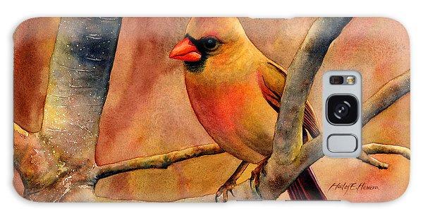 Cardinal Galaxy Case - Northern Cardinal II by Hailey E Herrera