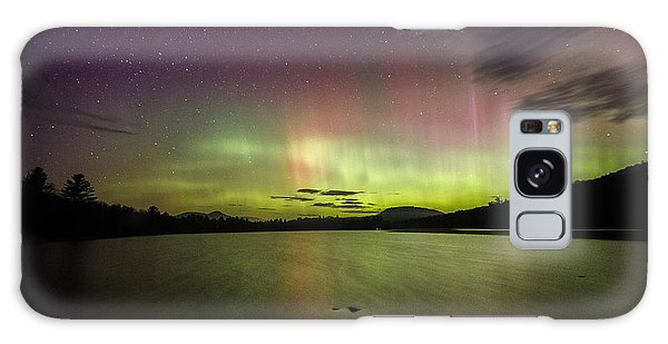 Northern Lights Over Ricker Pond Galaxy Case