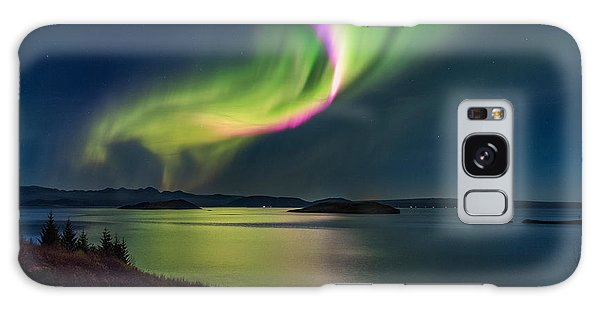 Northern Lights Over Thingvallavatn Or Galaxy Case