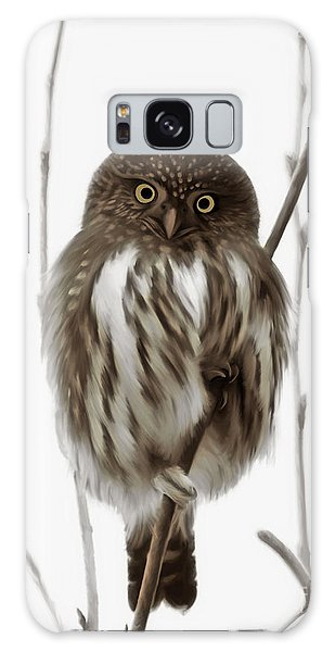 Northern Pygmy Owl - Little One Galaxy Case by Beve Brown-Clark Photography