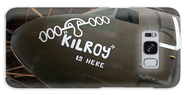 Nose Art Kilroy Was Here Galaxy Case
